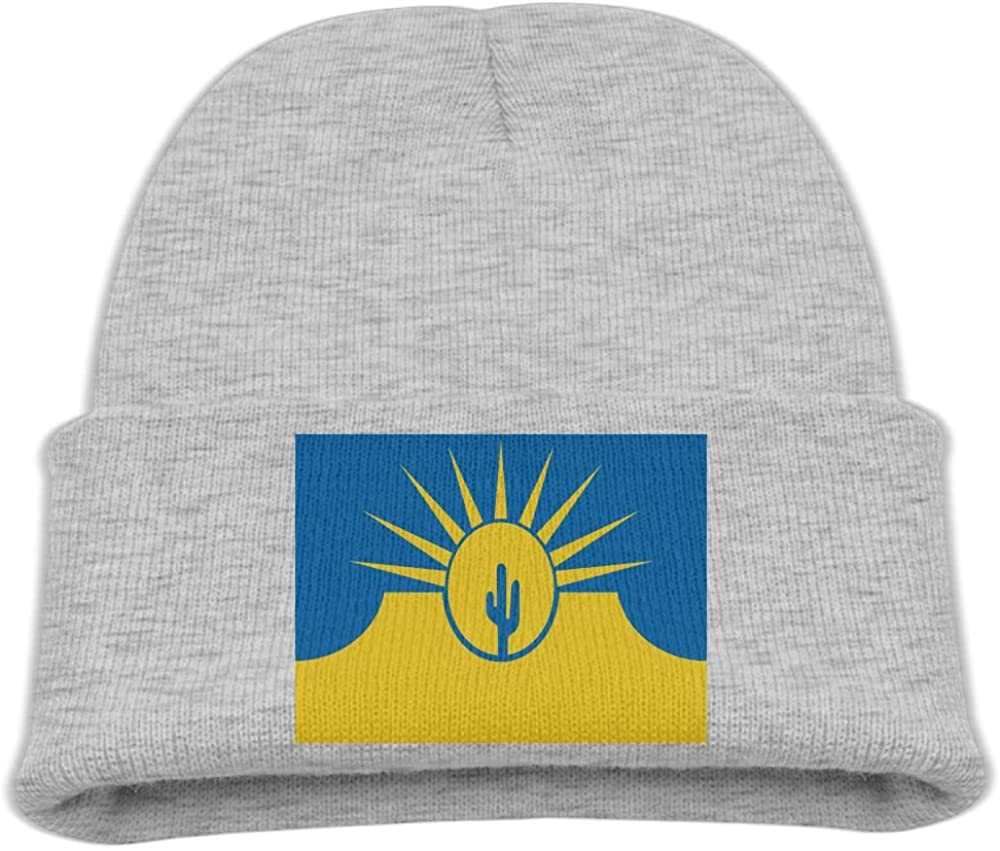 ZWZ Flag Of Mesa Arizona Kid's Hats Winter Funny Soft Knit Beanie Cap Children Unisex