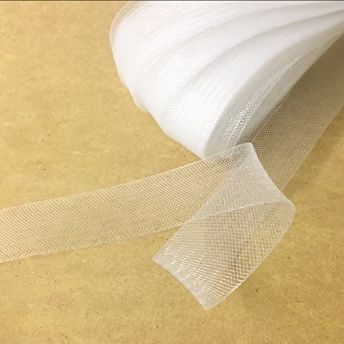 Top Trimming 1 Inch Polyester Horsehair Braid, Selling Per Roll/22yards White