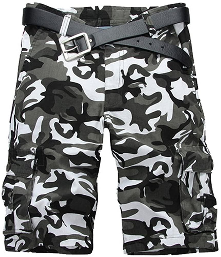 Tonwhar 2015 New Style Fashion Men's Utility Camo Shorts (31, white camo)