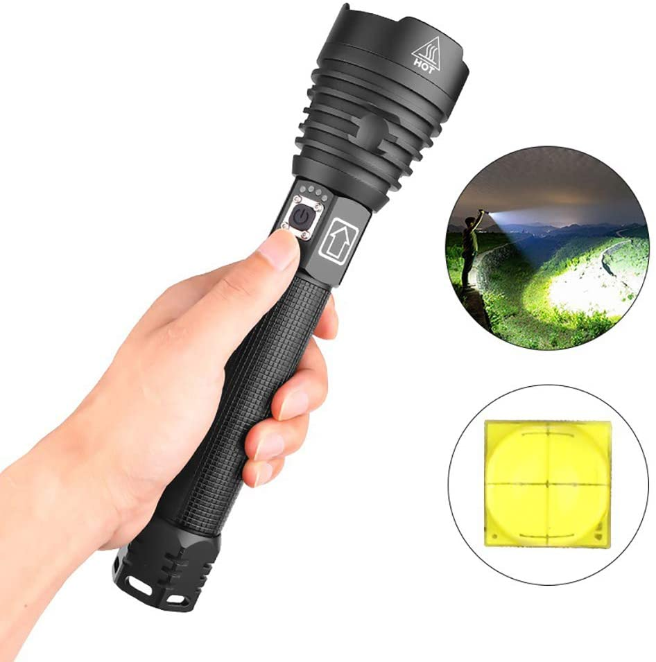 DONG HAI Rechargeable Flashlight, LED Flashlights with Super Bright 2500 Lumen,3 Zoomable Modes, IP68 Water Resistant, for Camping/Hiking/Outdoor Activities