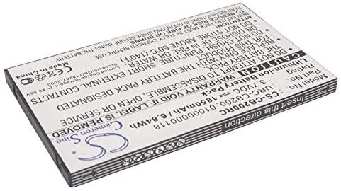 Cameron Sino 1850mAh Battery for Sonos CB200, CB200WR1, Controller 200, Controller CB200, Controller CR200, CR200