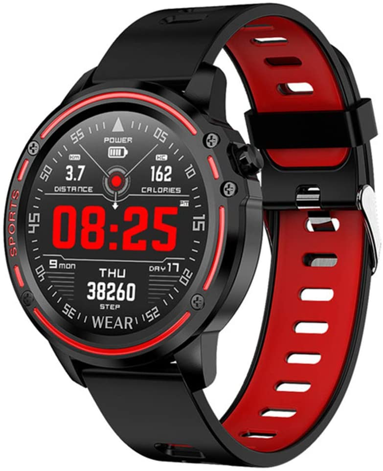 GREENBOLO Mens Smartwatch,Fitness Tracker IP67 Waterproof GPS Pedometer Heart Rate Sleeping Blood Pressure Monitor Multifunction Sport Watch for iOS Android