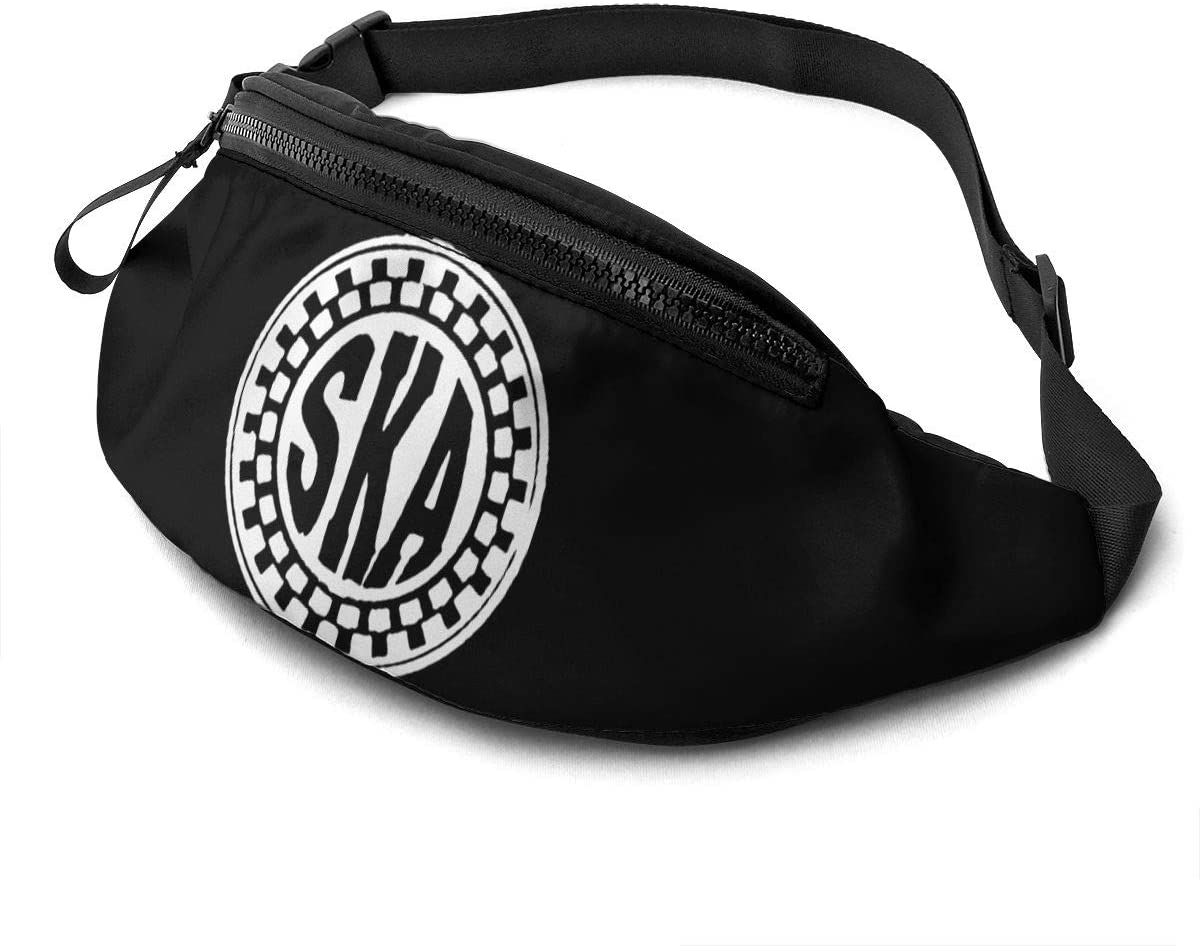 Qwertyi Ska Music Unisex Running Waist Packs Casual Waist Bag, Can Hold Small Objects Such As Mobile Phones