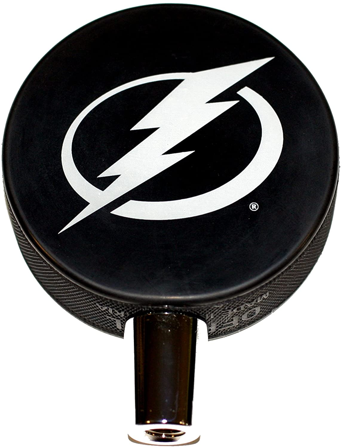 EBINGERS PLACE Tampa Bay Ligtning Basic Logo Hockey NHL Puck Beer Tap Handle