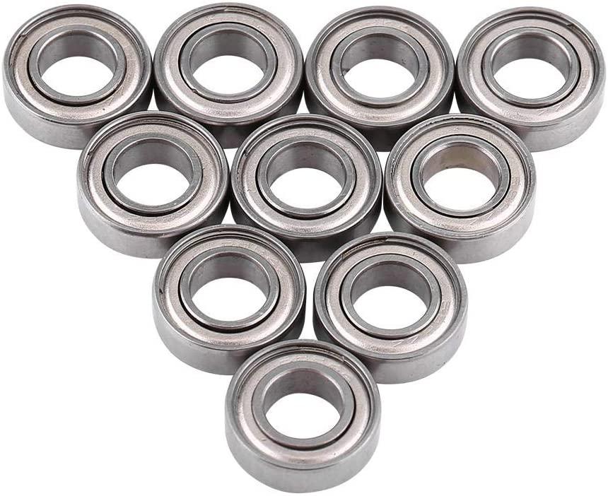 Yosooo Miniature Bearing,10pcs 688ZZ Ball Bearings Metal Double Shielded Bearing for Mechanical Equipment, Electrical Instruments