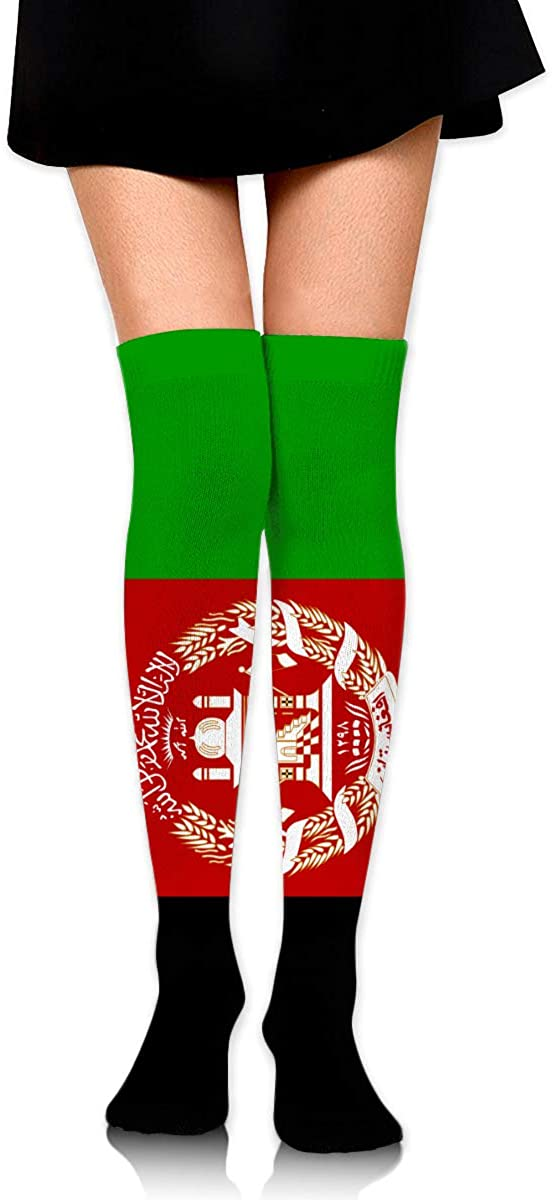 Knee High Socks Afghan Flag Womens Athletic Over Thigh Long Stockings