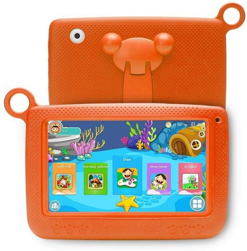 Aosituopu Kids Education Tablet PC with Bracket, 7.0 inch, 512MB+8GB, Android 4.4 Allwinner A33 Cortex A7 Processor, Support WiFi/Micro SD Card/G-Sensor (Color : Orange)