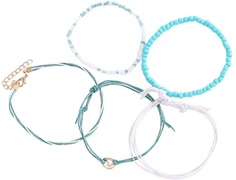Happyyami 5pcs Bracelet Making Cord PU Cord Bracelet Jewelry Ethnic Bracelet for Lover Gift Jewelry for Wife Mom Grandma Girlfriend