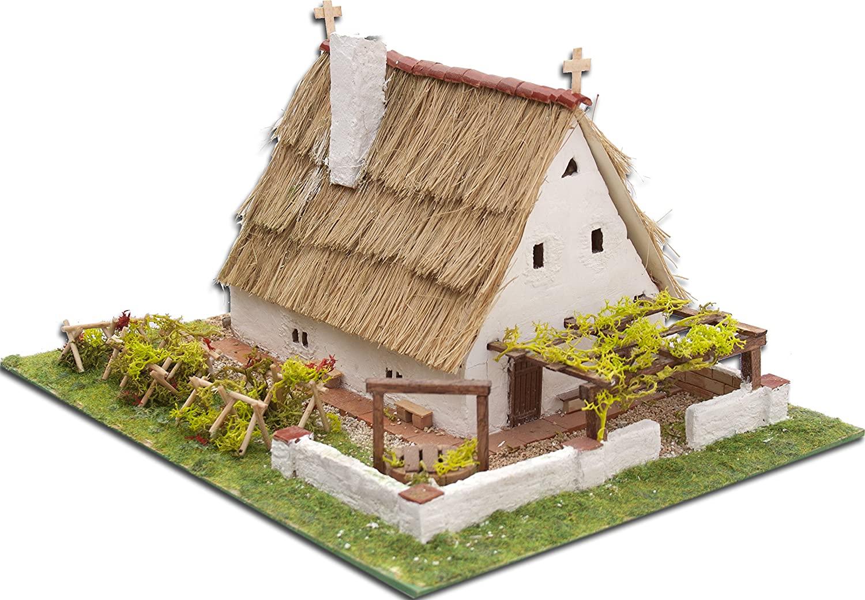 Keranova Popular Housing 600 Pieces Barraca Valenciana House Model, 17 x 21 x 13.5 cm