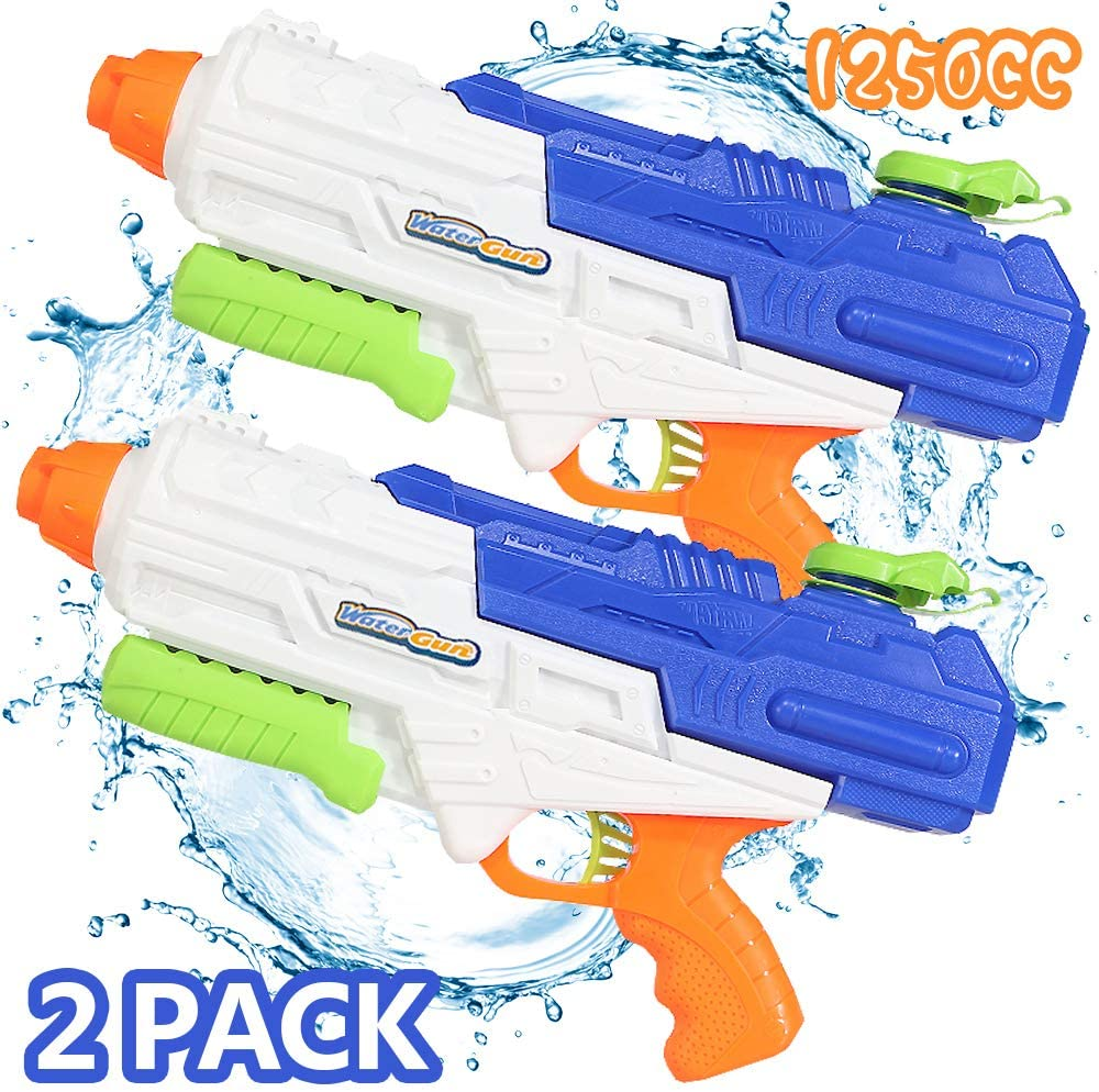 Nobie vivid Water Gun 2 Pack 1250CC High Capacity Water Soaker Blaster Squirt Gun Swimming Pool Beach Sand Water Fighting Toy for Kid&Adult