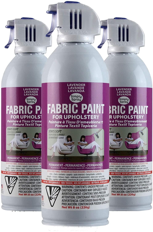 Simply Spray Upholstery Fabric Spray Paint 3 PK Lavender