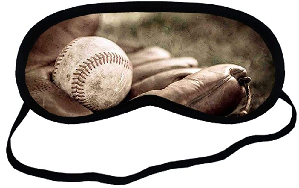 Babu Building Thinness Use For Sleeping Mask Print With Baseball 2 Pure Cotton For Kid