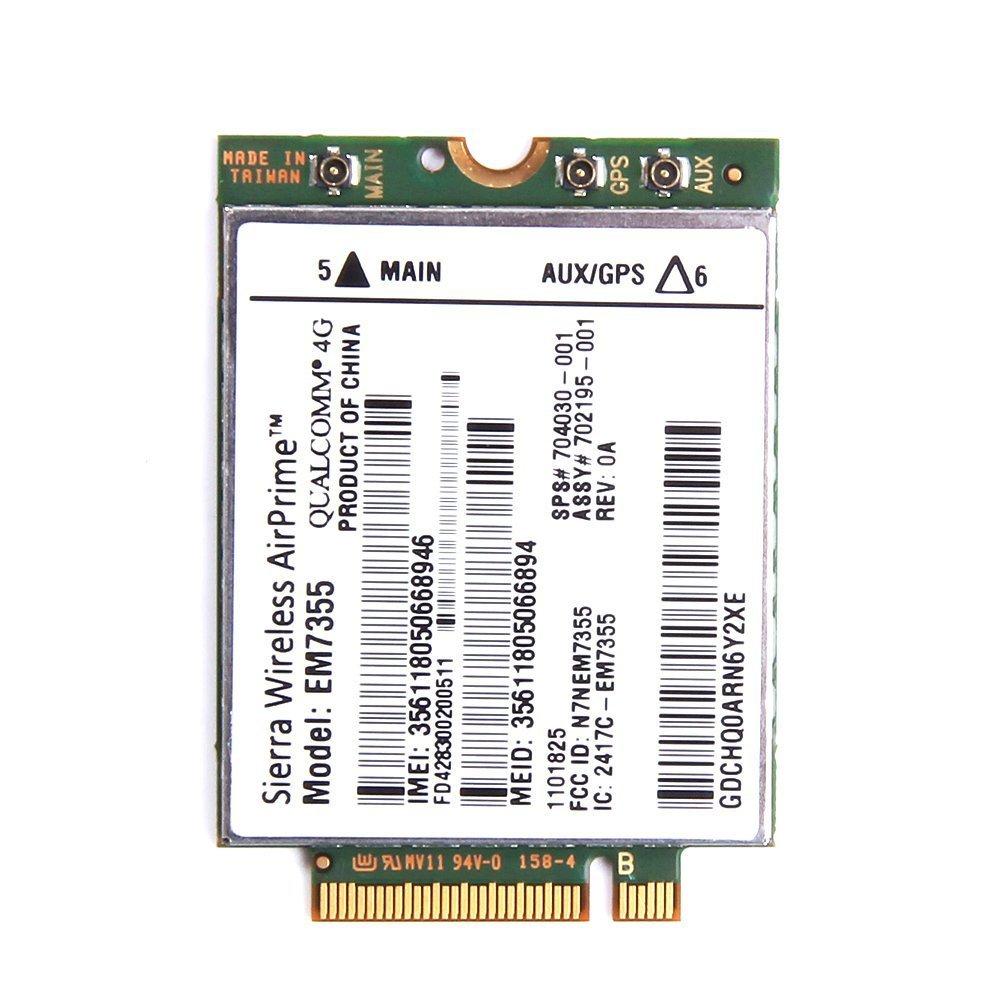 EM7355 LT4111 GOBI 4G LTE WWAN HSPA+ 4G Module NGFF(M.2) CARD SPS : 704030-001