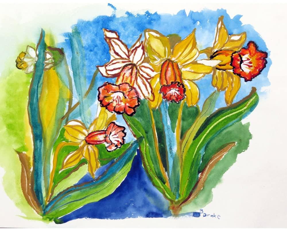 Betsy Drake DM542G Daffodils Floor Mat, 30 x50