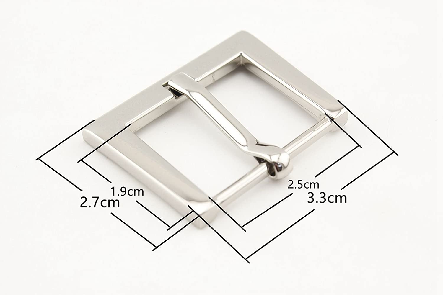 Nickel, 1 inch/25mm Zinc Alloy Belt Buckle for Belts and Leather Crafts, Heavy Duty Clasp for Sewing, Art, Bags, Clothing Replacement, 6 Pieces per lot U153