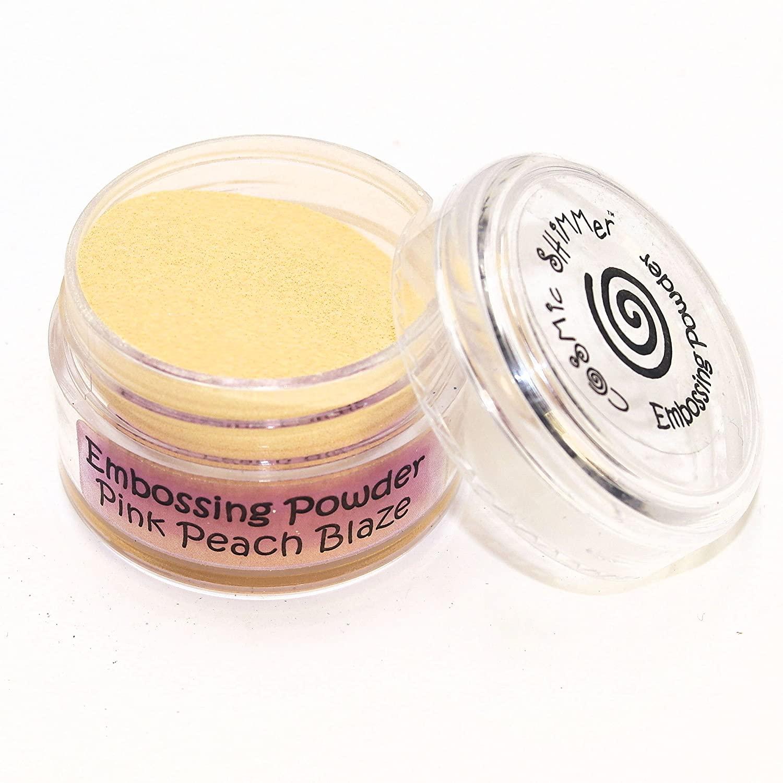 Cosmic Shimmer, Pink Peach Blaze Empossing Powder, 20ml