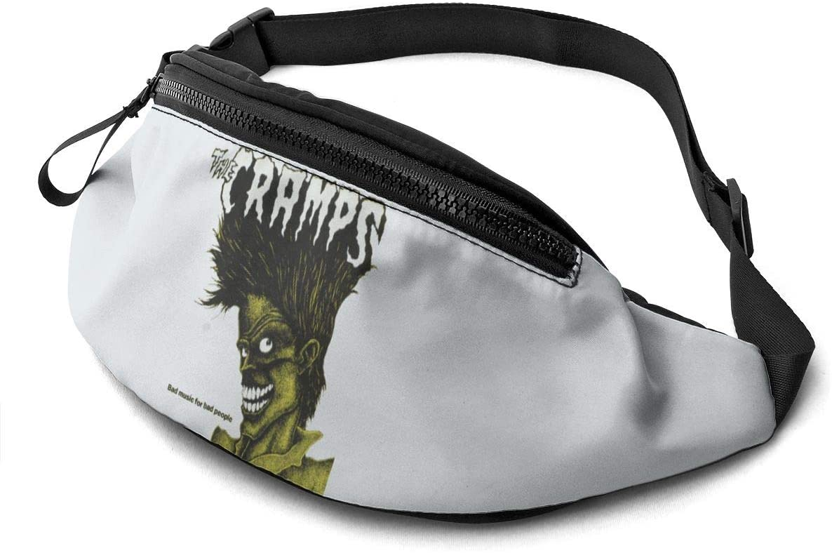 Qwtykeertyi The Cramps Unisex Fanny Packs for Outdoors Sport Workout Traveling Casual Running Hiking Cycling Gym with Adjustable Strap
