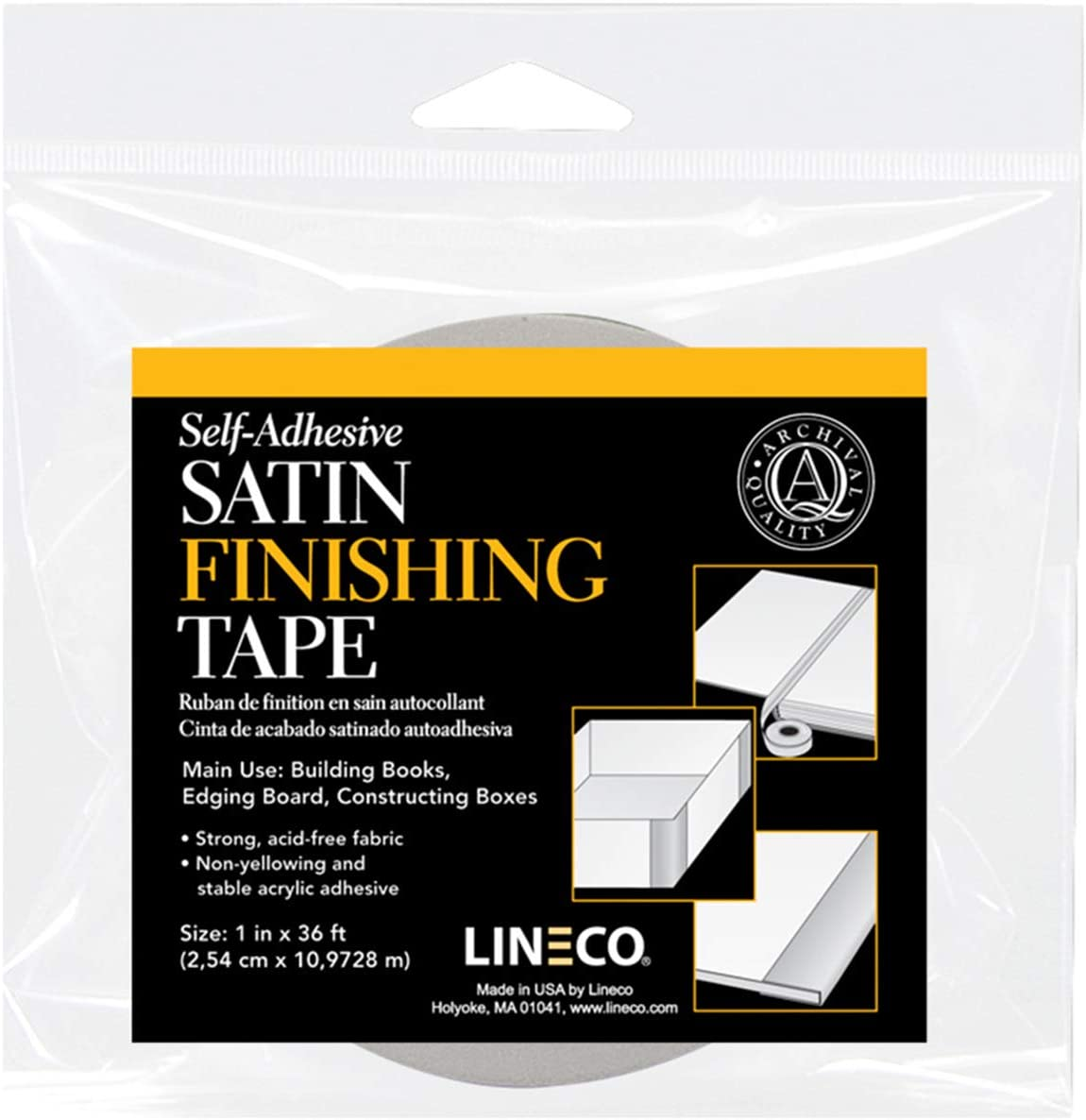 Linen Hinging Ivory Satin Cloth Tape, Self Adhesive 1'' x 36 ft. Durable, Strong, Safe, Trusted Tape for Hinging, Matboards.