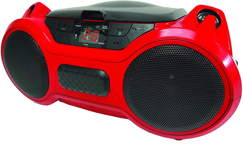 SYLVANIA srcd1070bt-candy  Portable Bluetooth CD Radio Boombox (Candy)