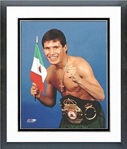 Julio Cesar Chavez Posed Studio Photo (Size: 12.5 x 15.5) Framed
