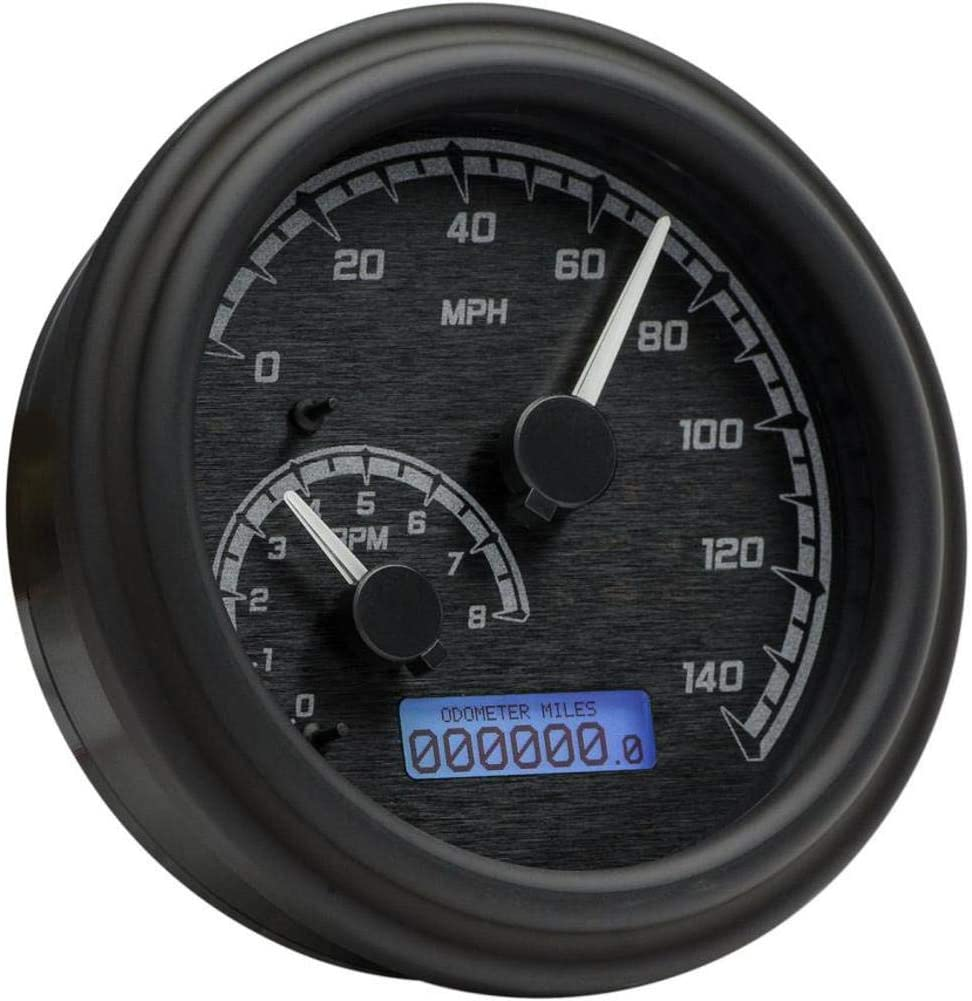 Dakota Digital MVX-2004-KG-K MVX Series Fatbob Analog/Digital Gauge System - Black/Gray Black