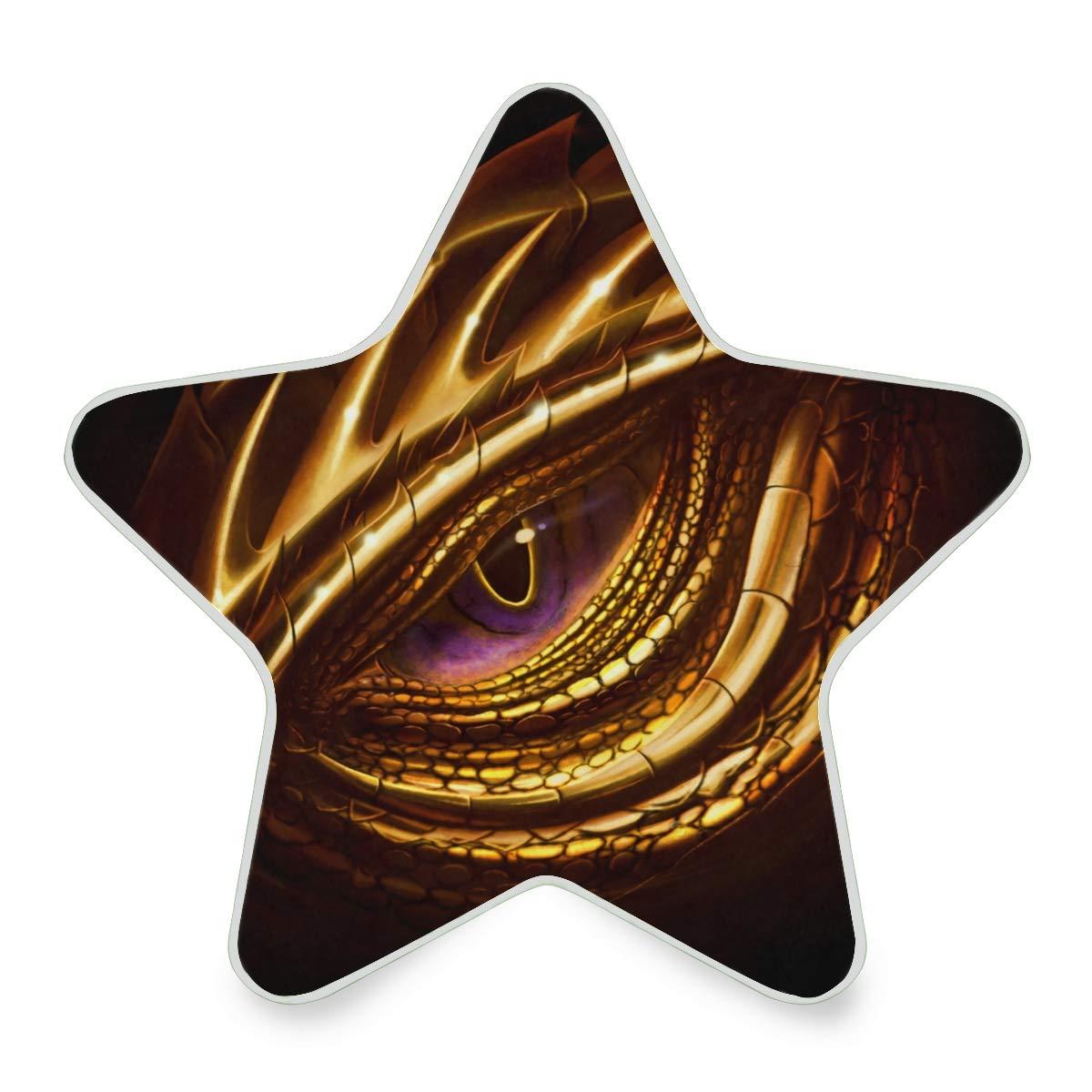 LED Night Light Eye of Golden Dragon Cool Amazing Nightlight Decorative Star Pentagram Shaped Plug in for Kids Baby Girls Boys Adults Room