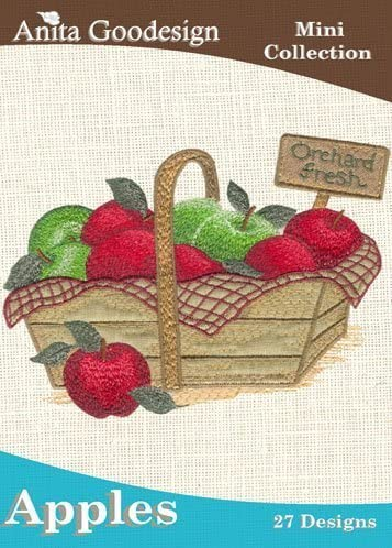 Anita Goodesign Embroidery Machine Designs Cd Apples