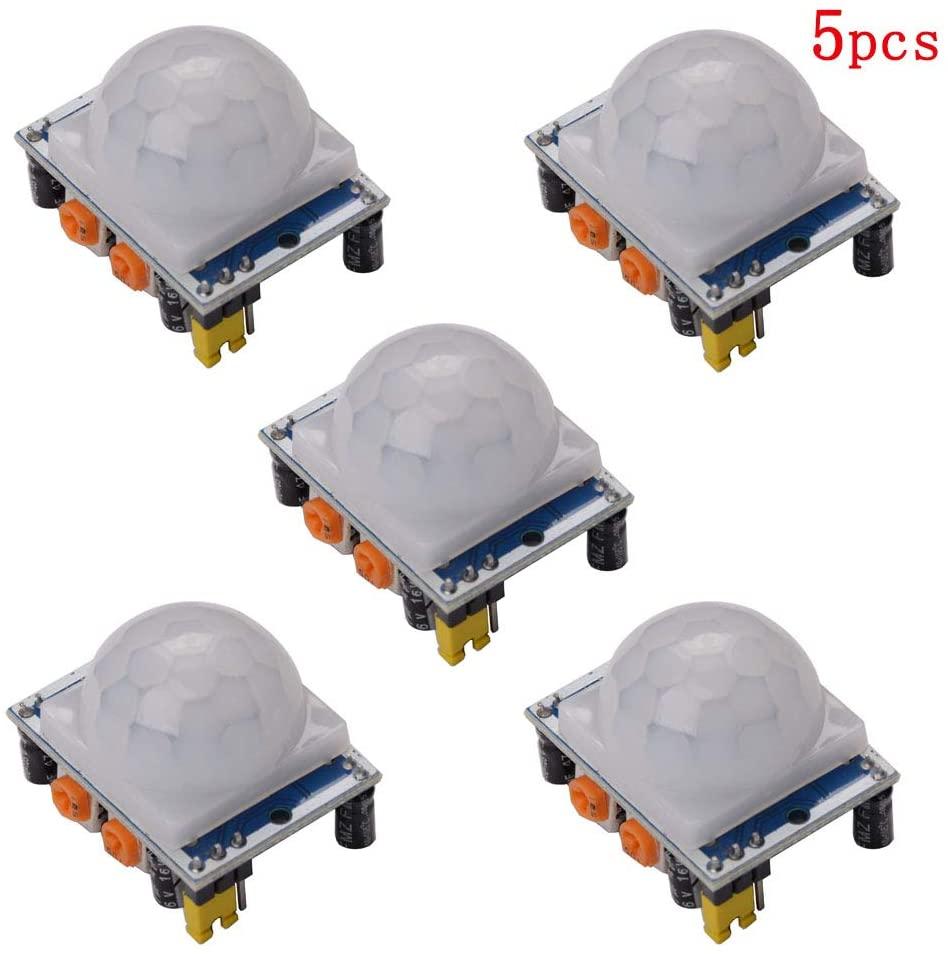 5Pack HC-SR501 IR Pyroelectric Infrared PIR Motion Sensor Detector Modules Blue