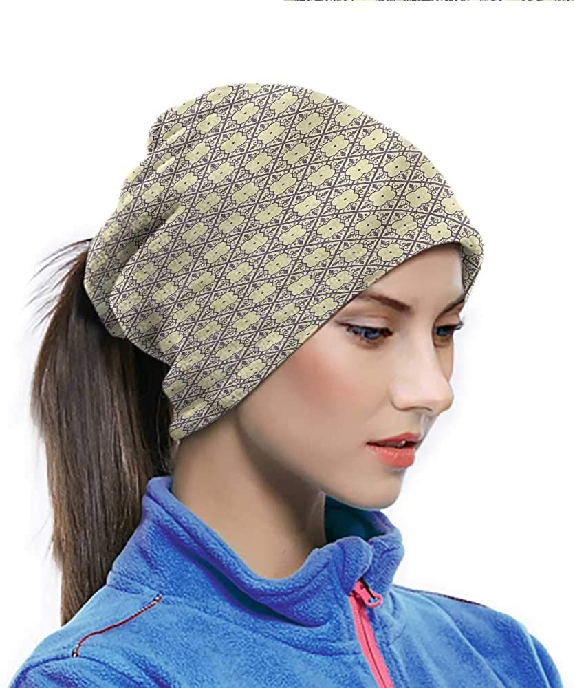 Headwear Geometric, Oriental Blossoms Neck Gaiter Bandanas for Cycling, Fishing, Running, Hiking, Camping 10 x 11.6 Inch