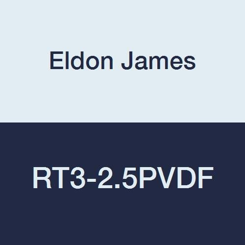 Eldon James RT3-2.5PVDF Kynar Reduction Tee, 3/16