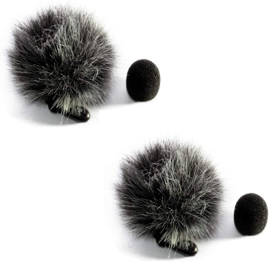 Startice Fuzzy Lavalier Microphone Mic windscreen (Dark Gray) 2pack