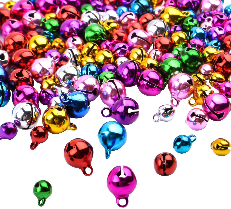 BronaGrand 150pcs Mixed Jingle Christmas Bells Loose Beads Charms Jewelry Marking