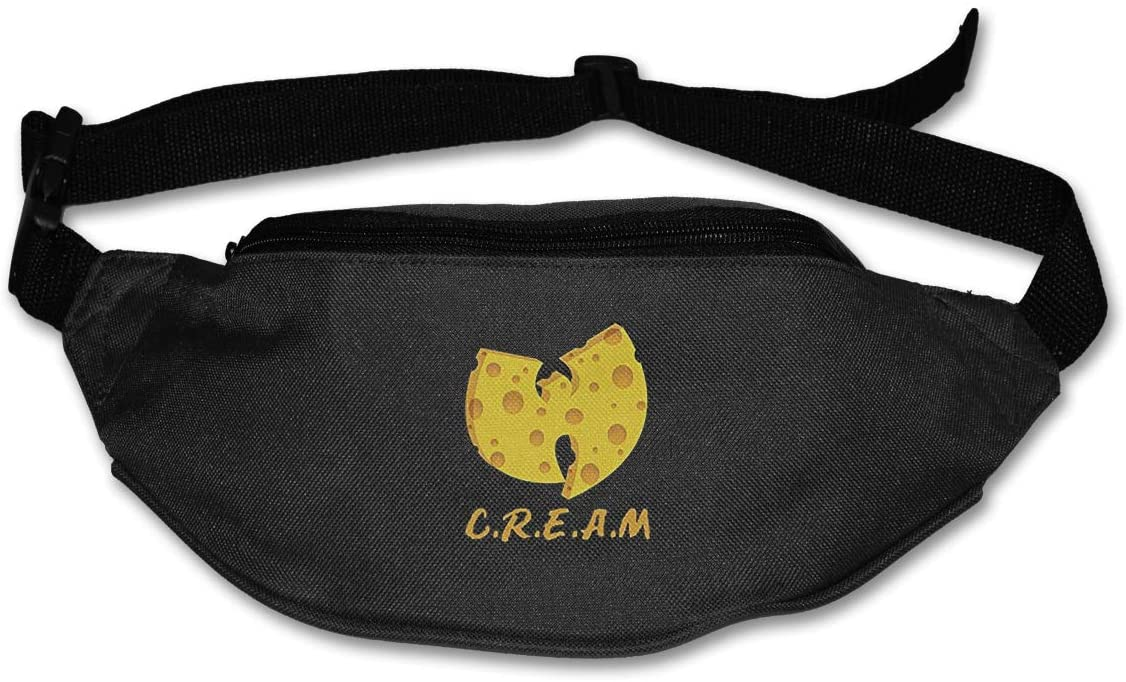 Lucky Person C.R.E.A.M. Cash Rules Everything Around Shirt Belt Bag for Travel Or Running