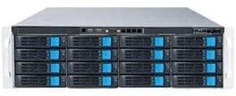 Sans Digital NAS EN316L12 3U 16Bay 4 NIC 12G SAS / 6G SATA Hardware RAID6 NAS+iSCSI Rackmount Server Retail