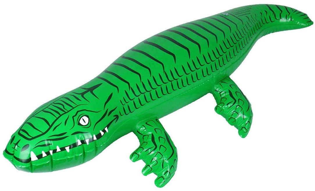 Rimi Hanger Kids Inflatable Toy Blow Up Crocodile 90cm Childrens Book Day Party Accessories One Size (Pack of 1)