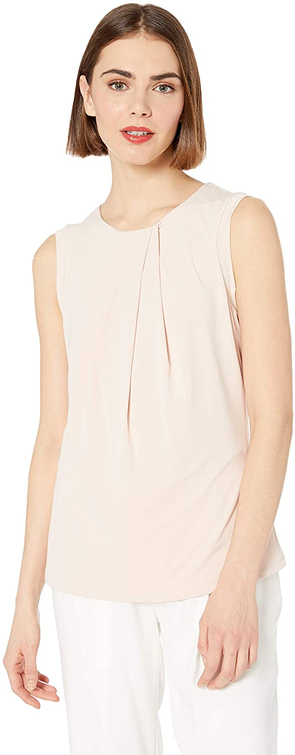 Karl Lagerfeld Women's Foldover Neck Sleeveless Top