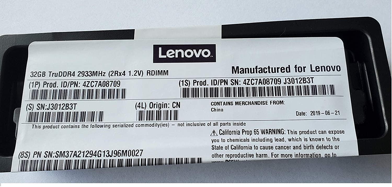 Lenovo 4ZC7A08709 32GB DDR4 2933 MHz Memory Module (32 GB, 1 x 32 GB, DDR4, 2933 MHz, RDIMM)