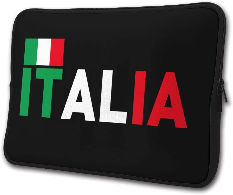 SWEET-YZ Laptop Sleeve Case Italian Flag Notebook Computer Cover Bag Compatible 13-15 Inch Laptop