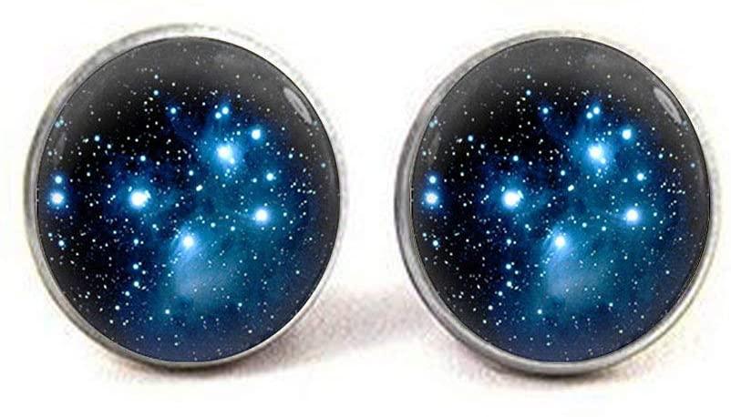 Pleiades Star Cluster Earrings Space Universe Earrings Jewelry