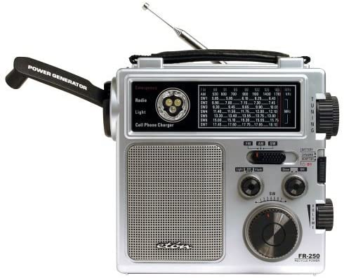 Eton FR250 Emergency Crank Radio Metallic Silver (Discontinued by Manufacturer)