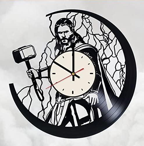 Thor: Ragnarok Vinyl Wall Clock Superhero Unique Gifts Living Room Home Decor