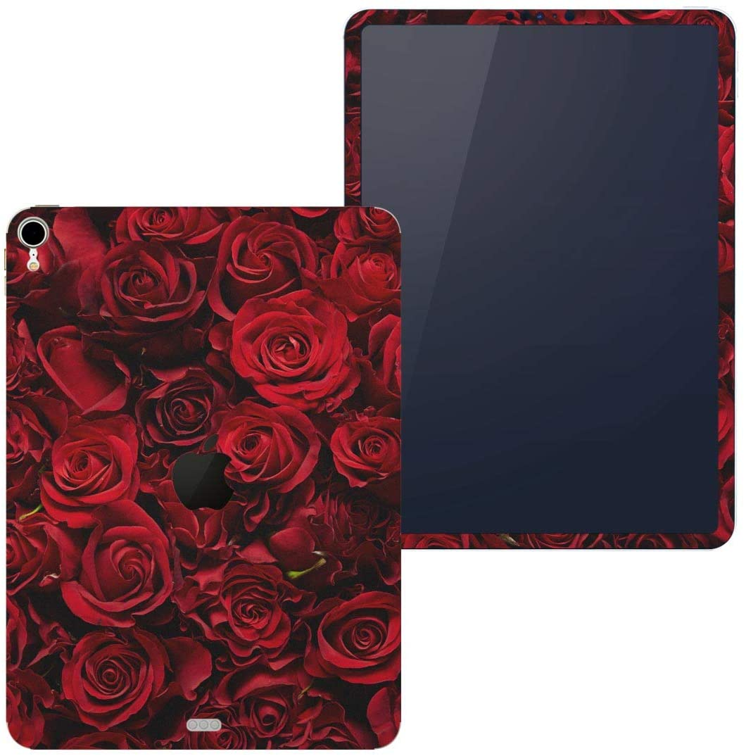 igsticker Skin for Apple iPad Pro 11″ (2018) Ultra Thin Premium Protective Body Stickers (iPad is Not Included) 008204 Flower Flour Photo Rose Red Red