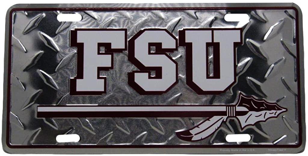 Florida State Seminoles Football FSU Diamond 6x12 Aluminum License Plate Tag