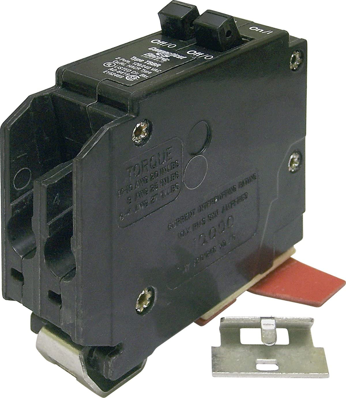 Connecticut Electric VPKWB1515 Wadsworth Circuit Breaker, Twin Pole 15-Amp