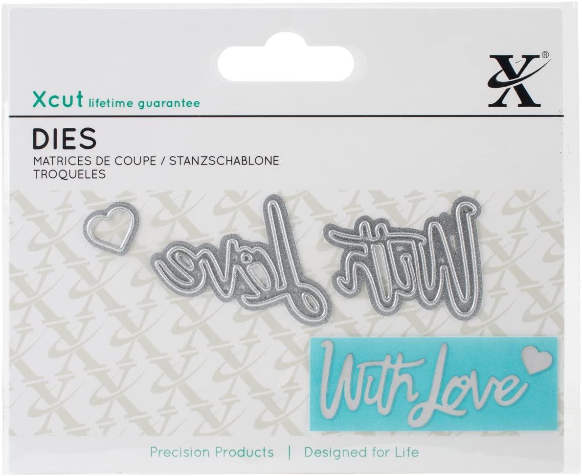 docrafts XCU504037 Decorative Dies 3/Pkg with Love