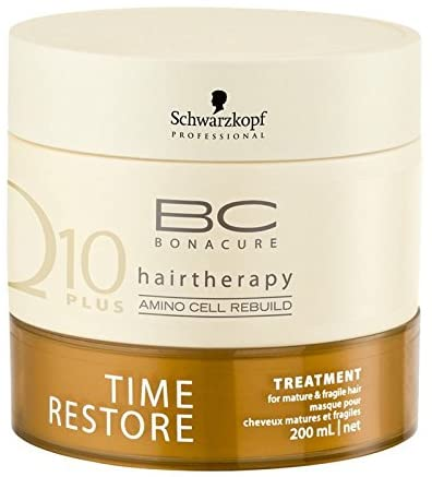 Schwarzkopf Bc Bonacure Q10 Hairtheraty Time Restore Treatment 200ml/6.8 Oz Shipping Fast