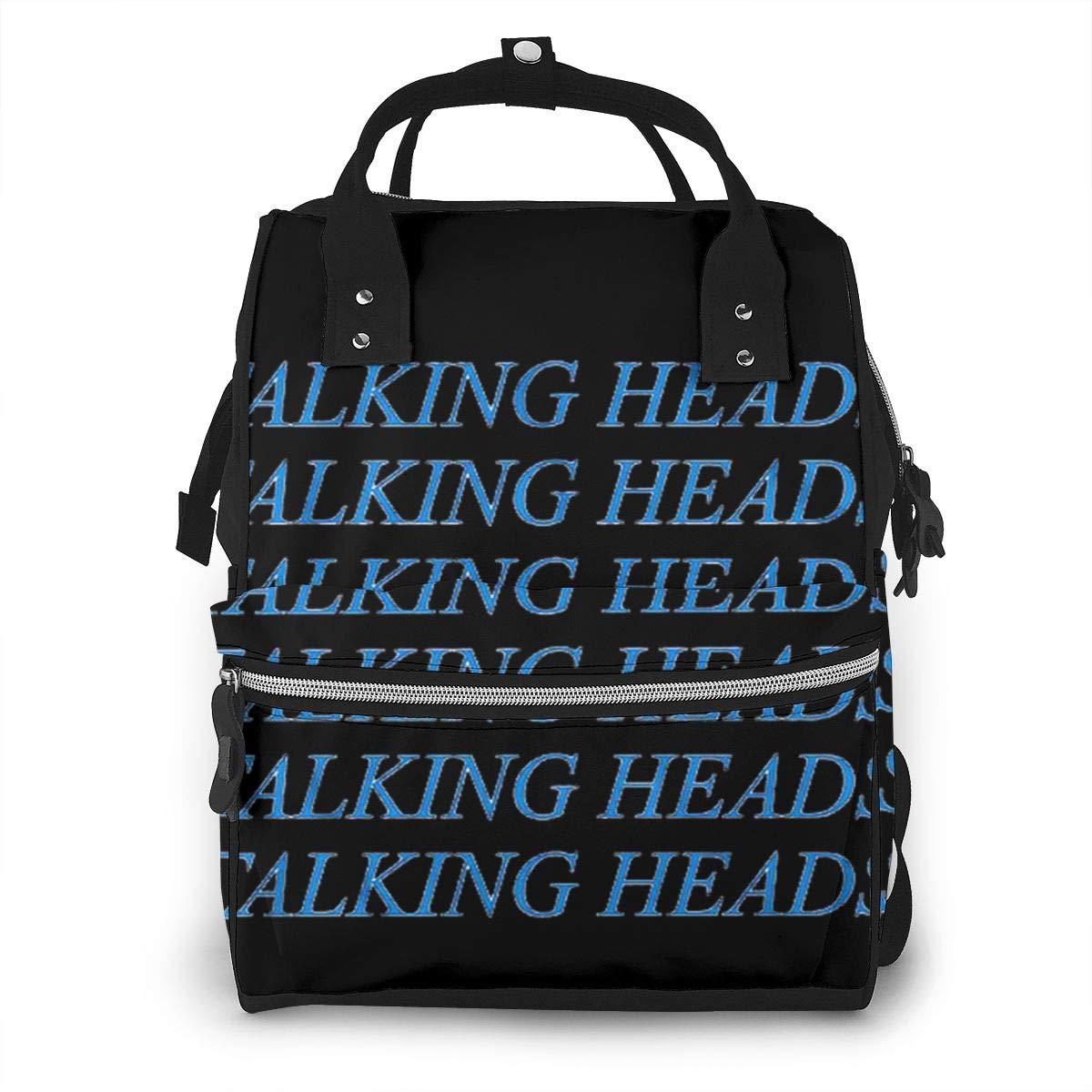 Talking Heads Personalized Design, Durable, Large Capacity, Stylish, Adjustable Strap Length.