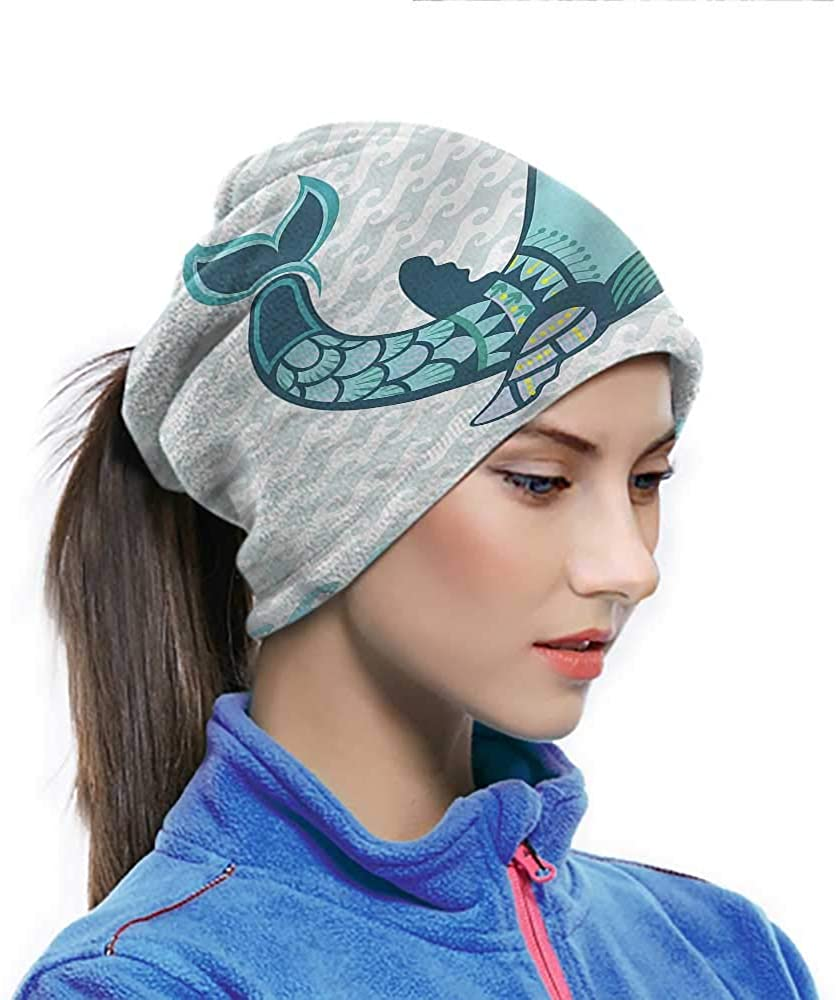 Head Wrap Whale, Happy Smiley Whale Breathable Neck Cover Dustproof, Windproof, UV Protection 10 x 11.6 Inch