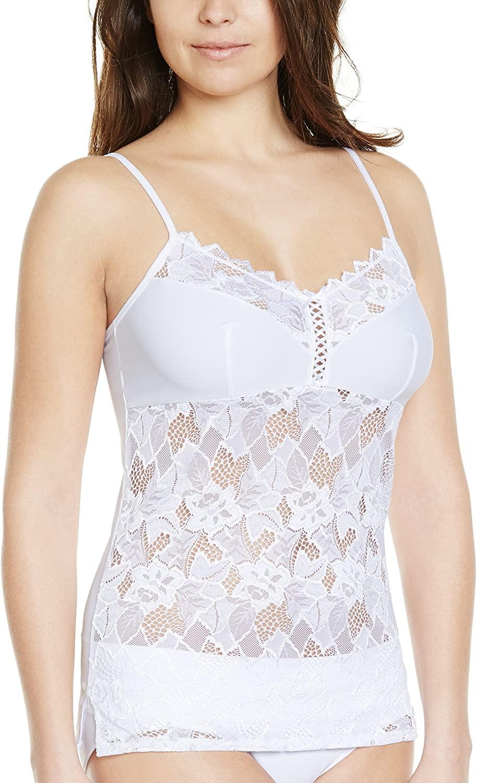 Sans Complexe 53564 Women's Arum White Lace Top Camisole