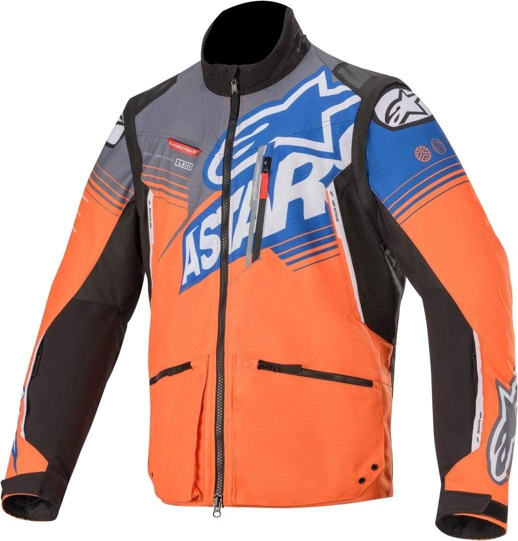 Alpinestars Men's Venture R Off-Road Motocross Jacket, Orange/Gray/Blue, XL